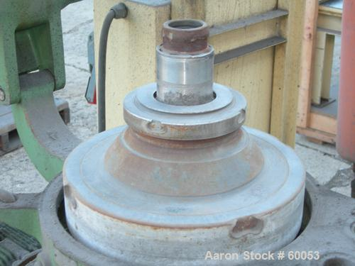 Used- Stainless Steel/Aluminum Westfalia Solid Bowl Disc Centrifuge, Model OTA-14-066