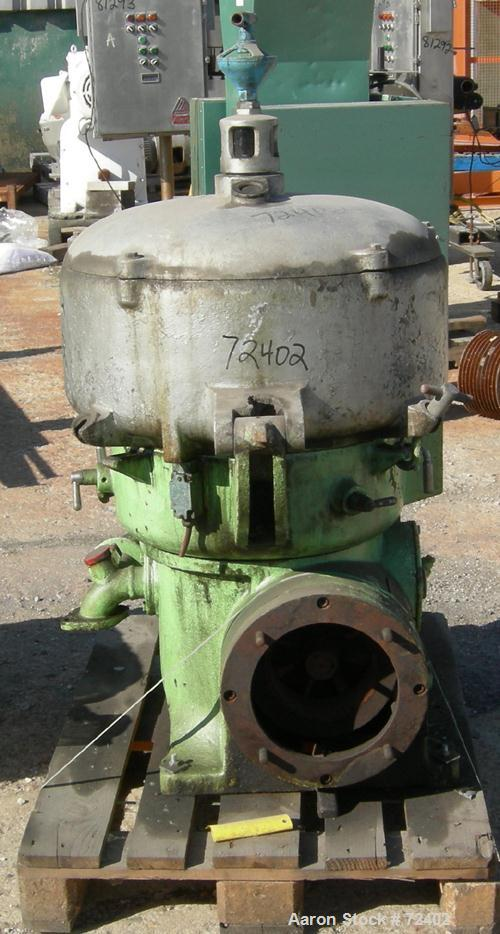 Used- Westfalia Oil Purifier Disc Centrifuge, OTA-30-02-066