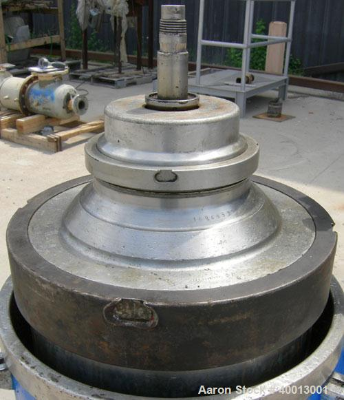 Used- Stainless Steel Westfalia Solid Bowl Refining Disc Centrifuge, RTA-45-01-074