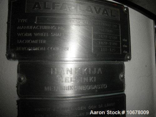 Used-Alfa Laval Nozzle Disc Centrifuge