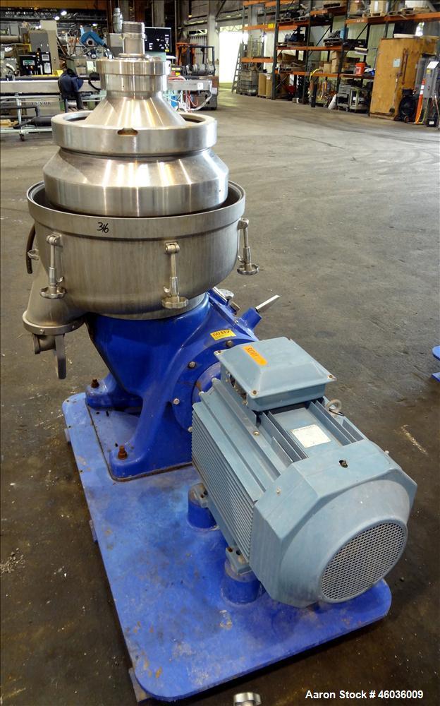 Used- Alfa Laval FEUX-412U-35-60 Nozzle Disc Centrifuge