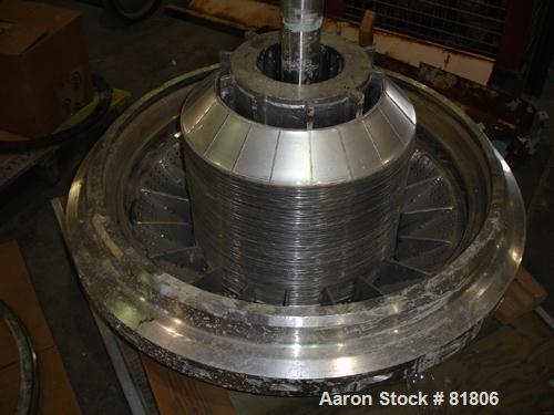 USED: Dorr Oliver Merco Nozzle Disc Centrifuge, Model B-30, 317 stainless steel rotor assembly.Max bowl speed 2550 rpm, bron...