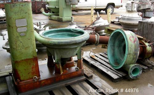 Used- Dorr Oliver BH-20 Merco Centrifuge.  Stainless steel rotor assembly, bronze casing. Has base, stand, hoist and 75 hp 3...
