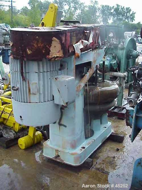Used- Dorr Oliver BX-16 Merco Centrifuge. Stainless steel bowl, bronze housing, 5400 rpm max bowl speed, 50 hp 3/60/220-440 ...