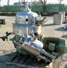 Used- Stainless Steel Westfalia Nozzle Disc Centrifuge, HDB-75-06-016