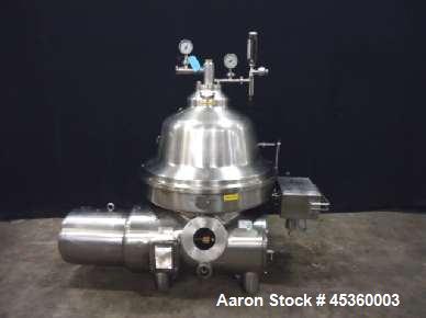Used- Westfalia CNB215-01-076 Bactofuge Centrifuge. Capacity 6606 gallons/hour (25,000 liter/h). Motor 50 hp (37kW), 72A/50H...