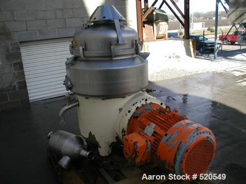 USED: Westfalia HDA-75-06-016 nozzle disc centrifuge, 316 stainlesssteel construction on product contact areas. Max bowls pe...
