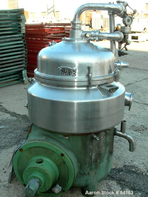 Used- Westfalia HDA75-06-016 Nozzle Disc Parts Machine Centrifuge. 316 stainless steel construction on product contact areas...