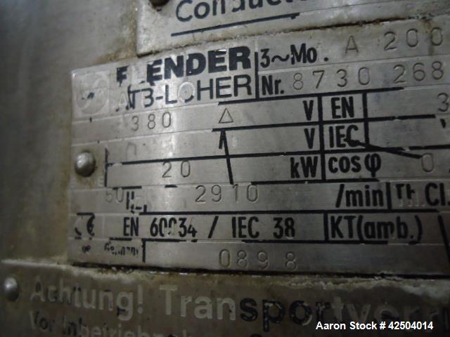 Used- GEA Westfalia KDA 30-02-177 Centrifuge. Stainless steel. Includes frame, bowl, motor, hood, valves, foundation frame, ...