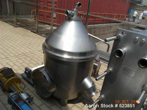 "USED: Westfalia KDB-30-02-076 nozzle ""Quark"" centrifuge, 316 stainlesssteel construction on product contact areas. Light pha..."