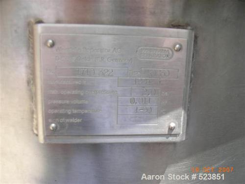 "USED: Westfalia KDB-30-02-076 nozzle ""Quark"" centrifuge, 316 stainlesssteel construction on product contact areas. Light pha..."