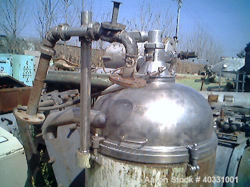 Used-Westfalia nozzle centrifuge, type RTA140-51-076. Material of construction is 316 stainless steel. Max bowl speed 5000 r...