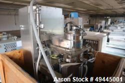 Used- Celeros Separation Centrifuge, Model APD-125. 5Kg Capacity. 17,000 rpm. Max solids S.G. 1.50. Operating temperature ra...