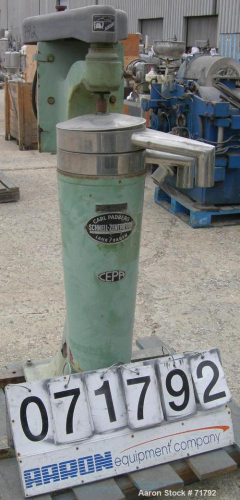 Used- Stainless Steel Carl Padberg High Speed Centrifuge, Type Z61
