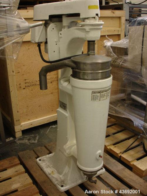Used-Sharples AS-16 Super Centrifuge, stainless steel construction (product contact areas), clarifier design (liquid/solids ...
