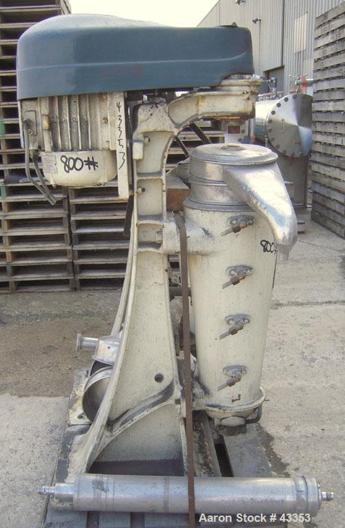 Used- Stainless Steel Sharples Super Centrifuge, Type MV8816-7-38Y-1JY-LB