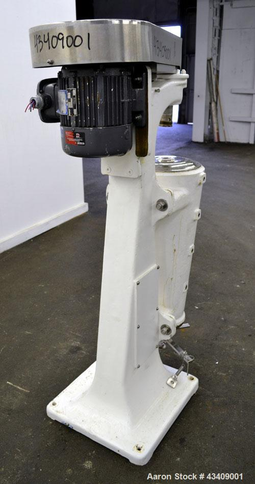 Used- Sharples AS-16 Super Centrifuge. 316 Stainless steel construction (product contact areas), clarifier design (liquid/so...