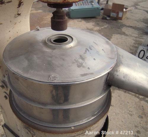 Used- Sharples Super Centrifuge, Model AS-16, 304 Stainless Steel Covers.  Max bowl speed 15000 rpm, separator design.  Driv...