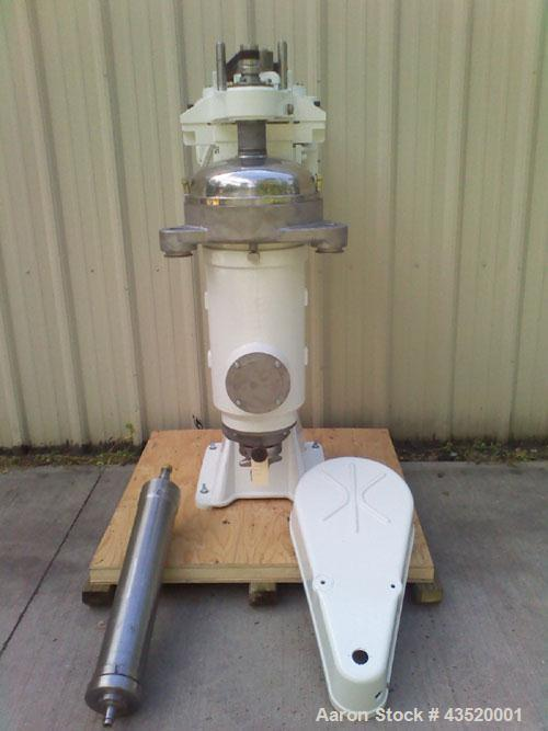 Used-Sharples AS-26 Super Centrifuge.  Stainless steel construction (product contact areas), max bowl speed 17000 rpm, separ...