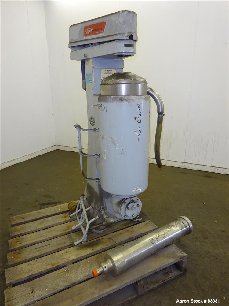 Used- Stainless Steel Sharples Super Centrifuge, MV26RR.210G.1H