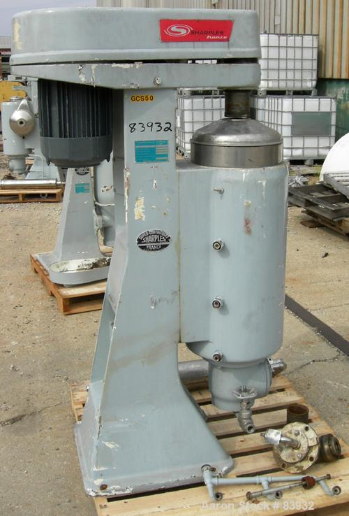 Used- Stainless Steel Sharples Super Centrifuge, MV26RR.210G.1H