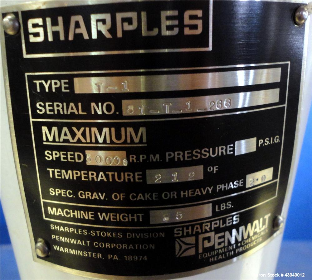 Used- Stainless Steel Sharples Super Centrifuge