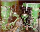 Used- Sharples AE-13V Enbloc Super Centrifuge. Approximate maximum bowl speed 15,000 rpm, separator design, vapor tight.  Dr...