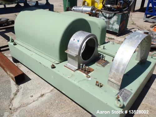 Used- Reconditioned Flottweg Z42-3 (a.k.a. 2550) Tricanter Solid Bowl Decanter Centrifuge. 316L stainless steel construction...