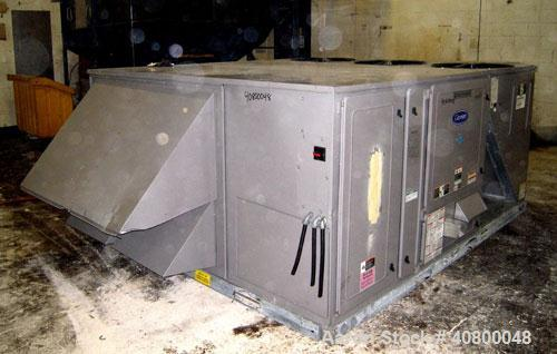 Used-Carrier Centurion Ultra High Efficiency Single Package Gas Heating/Electric Cooling Commercial Rooftop Unit, Model 48PG...