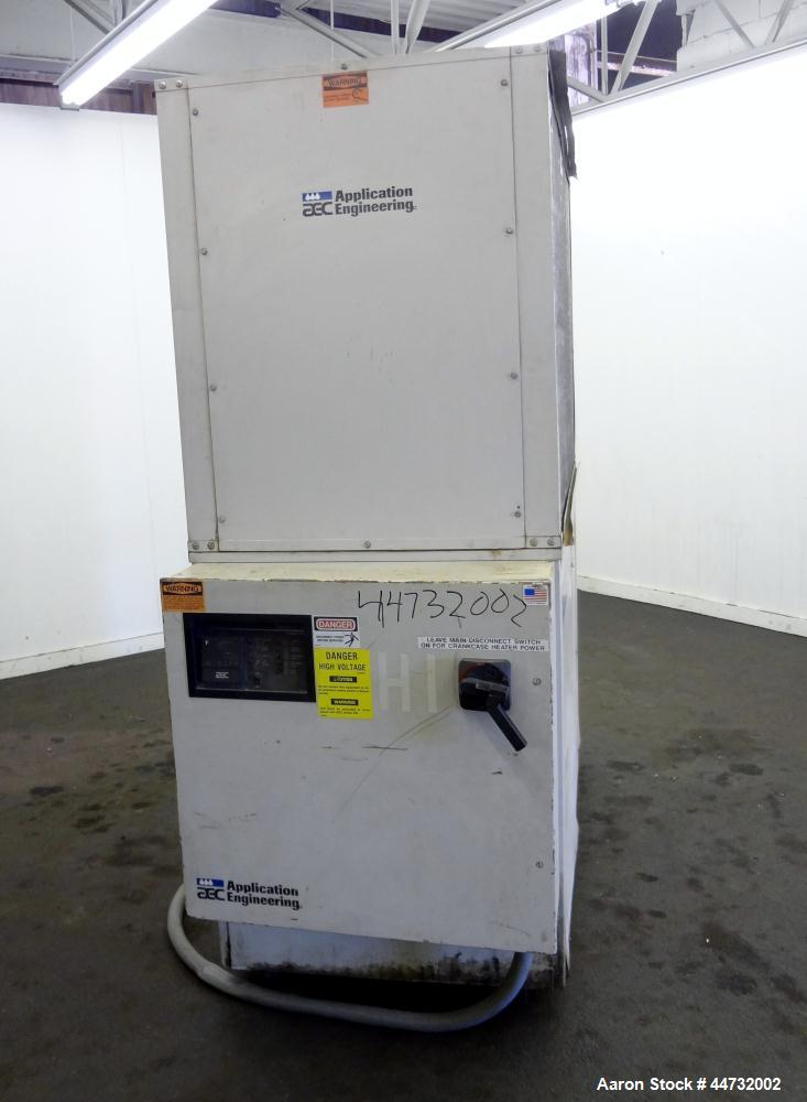 Used- AEC Glacier Series Air Cooled Portable Chiller, Model NXGA-30. Cooling capacity 24.1 tons, chilled water 57.9 gallons ...