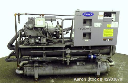 Used- Carrier Package Chiller, Model 30HL-060-C-6 SPEC, Approximate 60 Tons. Includes (2) Carlyle compressors, model 06EY399...