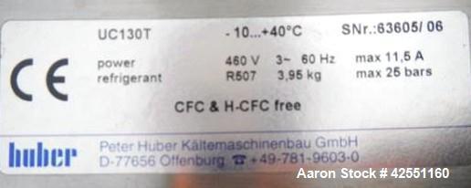 Used- Huber Unichill Chiller, Model UC130T
