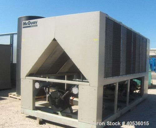 Unused-McQuay 140 ton, model AGS140. Screw compressors 460/3/60 volts. UNUSED and ready to ship today.