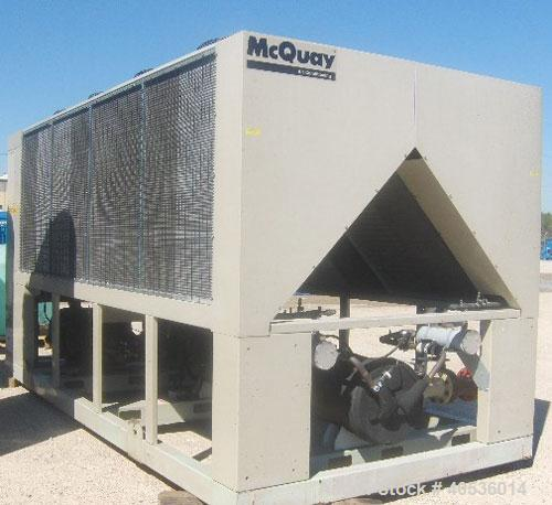 Unused- McQuay 140 ton, model AGS140. Screw compressors 460/3/60 volts. UNUSED and ready to ship today.