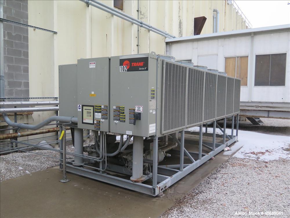 Used- Trane 110T Air Cooled Rotary Liquid Chiller, Model RTAA 1104 XT01 A3C0 JGKN BFC, Serial # U07E03879.  Built in 2007.