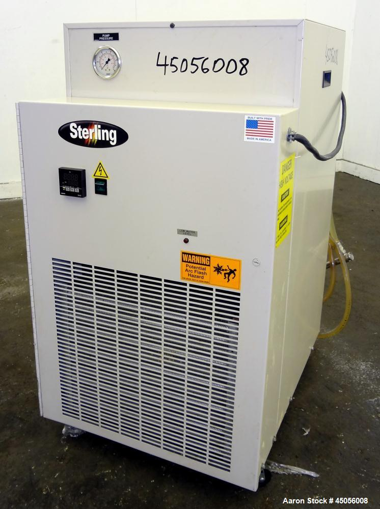 Unused- Sterlco Portable Chiller, Model SMCA 100, Nominal 1.6 Tons, Air Cooled. Gallons per minute 2.0 to 4.8, psig range 2....