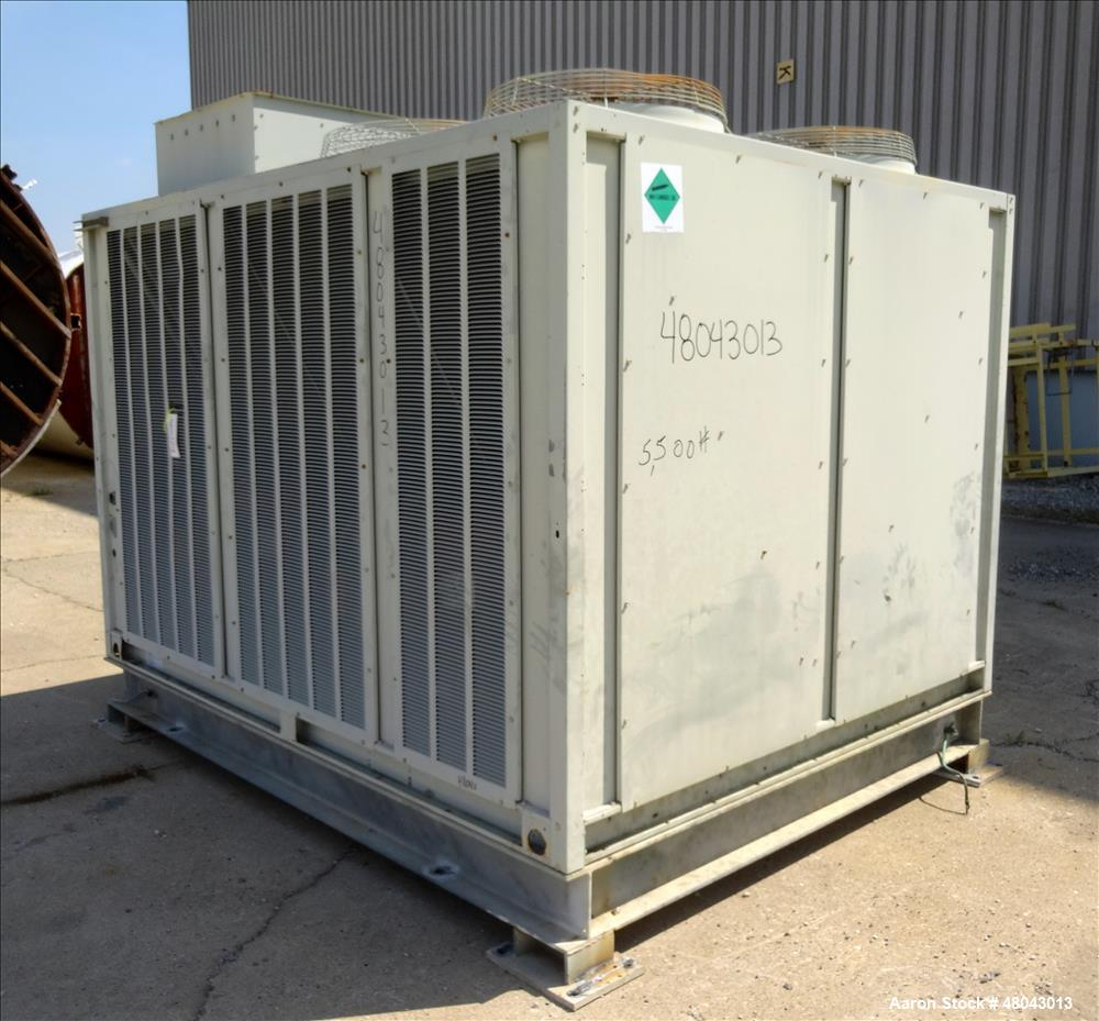 Used- Trane IntelliPak Air-Cooled Chiller, 50 Tons, Model #CGAEC504ABA1WHR. R-22 Coolant. Design pressure 450 psi. 40 to 50 ...