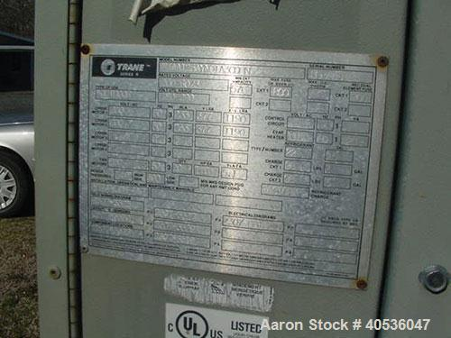Used-125 Nominal ton Trane chiller, model RTAA125RTAA125AA125AYN01A0300BN. Air cooled screw chiller designed for 200/3/60 vo...