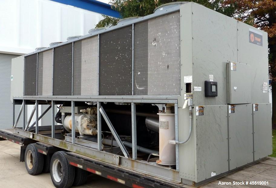 Used- Trane Air Cooled Screw Chiller, Model RTAC2254UB0NUAFNNINYITDCNN0EN10NR0EX