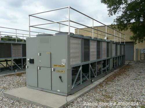 Used-Trane 400 ton, model RTAC400. Screw compressor, 460/3/60 volts, R134a refrigerant, late model, low hours.