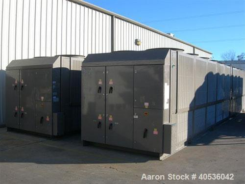Unused-York 418 ton, model YCAS0418EB46YGADBT screw compressor, 430/3/60 volts. R-407C refrigerant, high efficiency, Black F...
