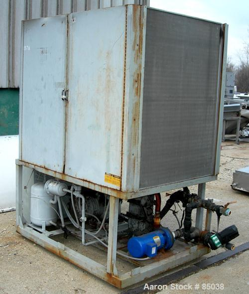 USED: Advantage Maximum portable chiller, 16.8 tons, model MX-15R41SB. Air cooled, 3/60/460 volt, 55 amp. Media glycol/water...