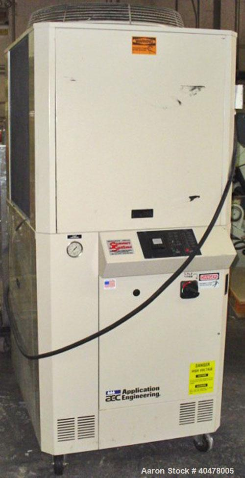 Used- AEC air cooled portable chiller, model PSA-5, approximately 4.8 tons. Temperature range 35 to 65 deg F. 5 hp compresso...