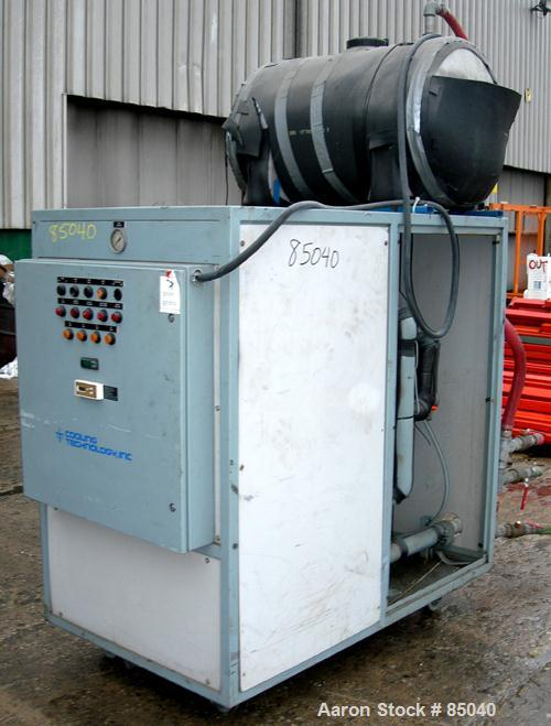 USED: Cooling Technology portable chiller, 5.8 tons, model 5/CPCW. Water cooled, 3/60/460 volt, 45 amp. 15 pound charge of R...