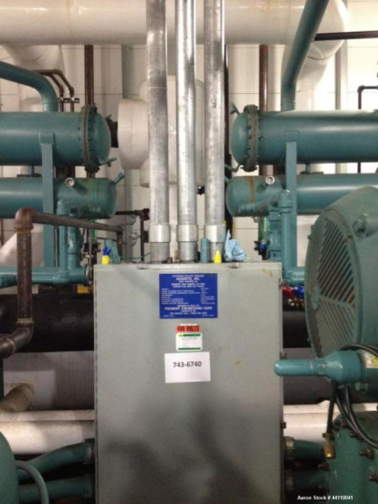 Used- Frick Syltherm Chiller, 150 Ton, Refrigerant R22. Outlet temperature -19 F, saturated compressor suction temp -30.3 F....
