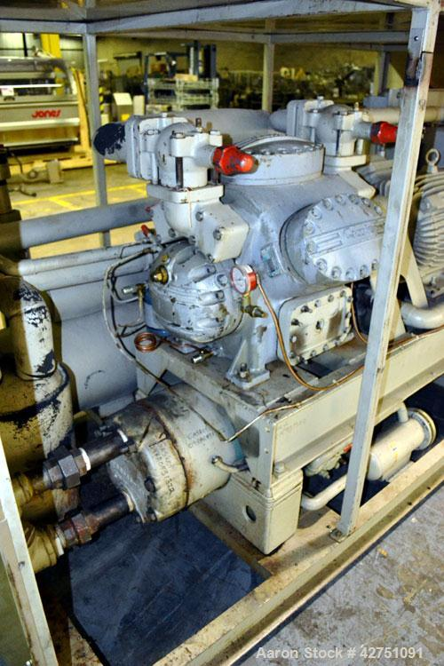 Used- Union Kol-Flo Chiller, Model KXP-40. Approximate 40 tons. Driven by a 40 hp, 3/60/460 volt XP motor. R-134 Refrigerant...