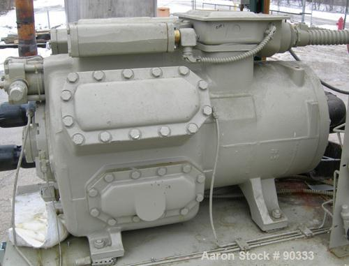 USED: Trane air cooled compressor chiller, 120 ton, Series R, model CCACD121RGNLR6237ADFGHP. 3/60/460 volt. (2) 60 ton compr...