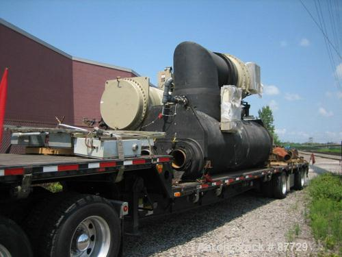 USED: Trane herematic centrifugal liquid chiller, 1280 ton, model CVHF1280, water cooled. HCFC-123 refrigerant with condense...