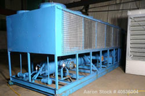 Used-Trane air cooled chiller, model RTAA2004XG01A0D0BK. Designed for 460/3/60 volt operation. This unit has approximately 2...