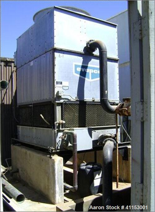 Used-York 125 Ton Chiller, Model YSBABASO-CFDS. Evapco cooling tower, model AT8-66B. York installed chiller in 1999, tower i...